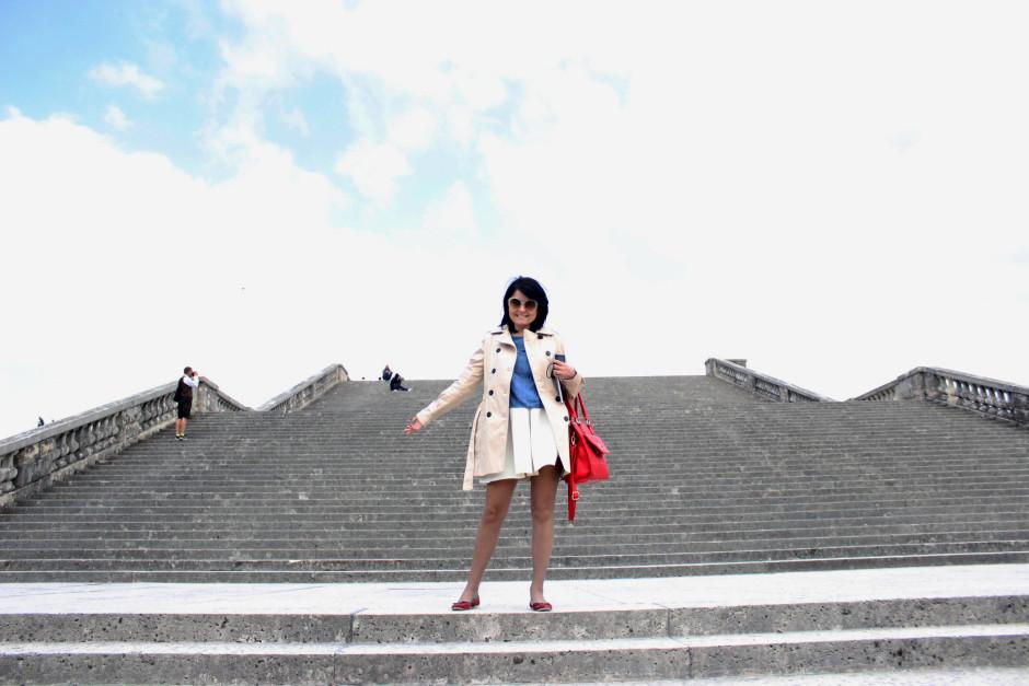 Escada de 100 degraus do Palácio de Versailles