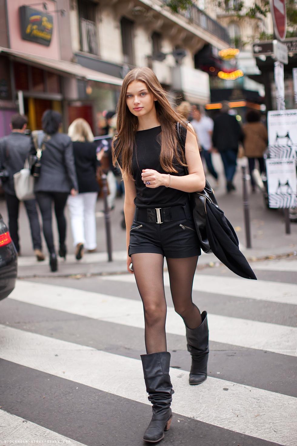meia calça preta fina