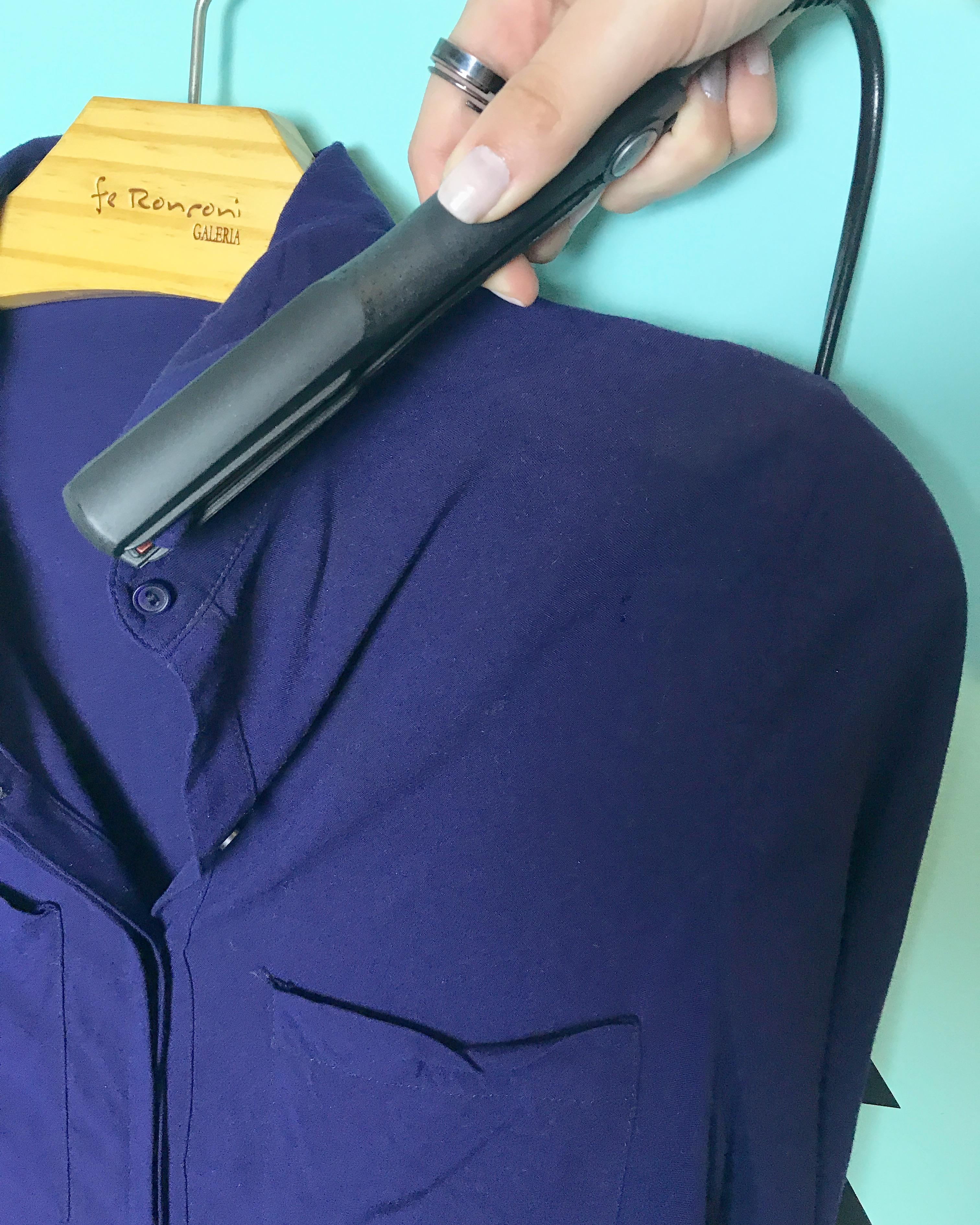 454e218f6 Opção mais irreverente e que talvez você nunca tenha pensado nela!! A  chapinha ajuda a deixar bem lisinhas pequenas partes da roupa